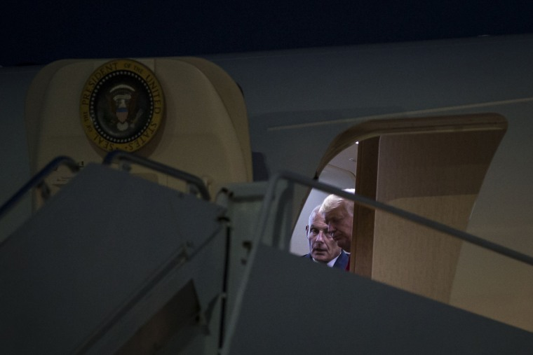 Image: John Kelly, White House chief of staff, boards Air Force One at Joint Base Andrews in Maryland