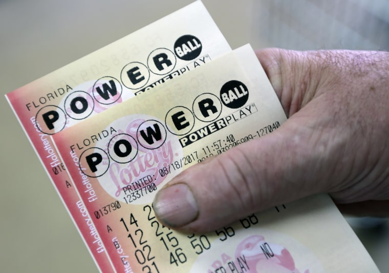 Image: A pair of Powerball tickets in Hialeah, Fla.