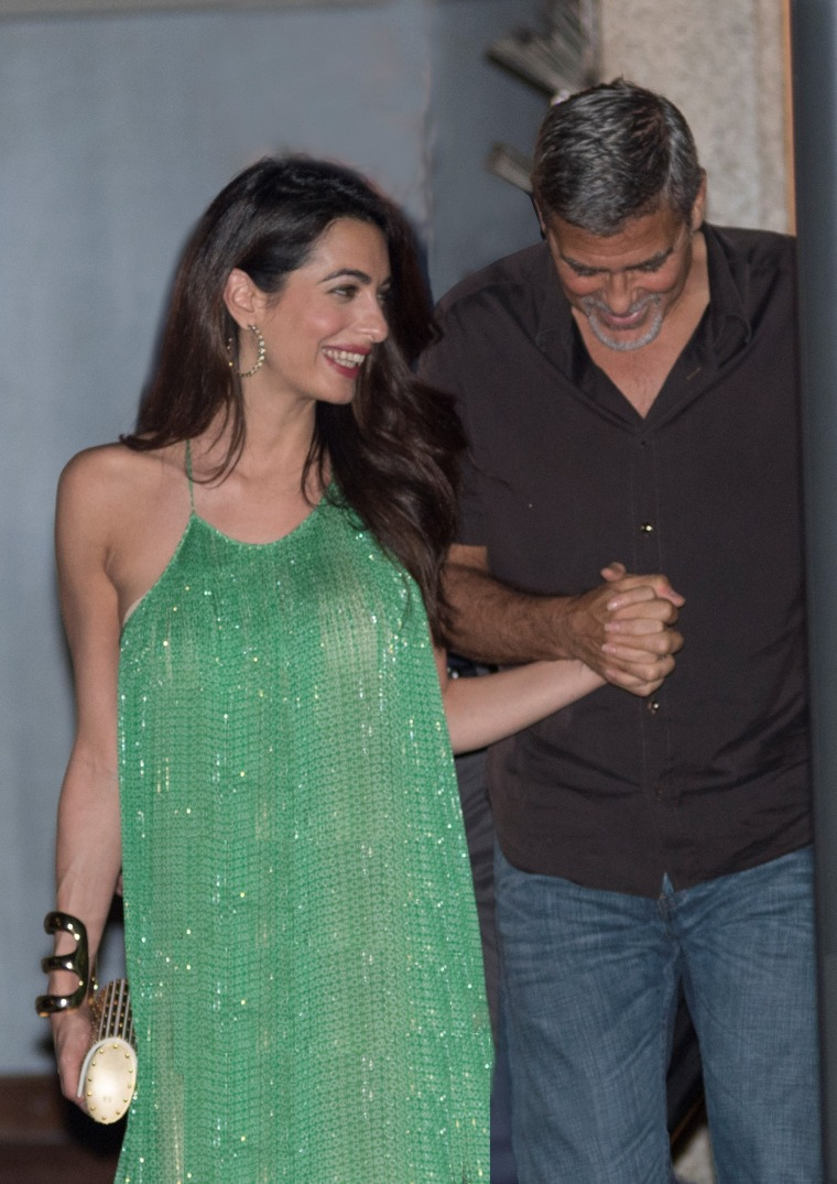 George and Amal date night in Lake Como