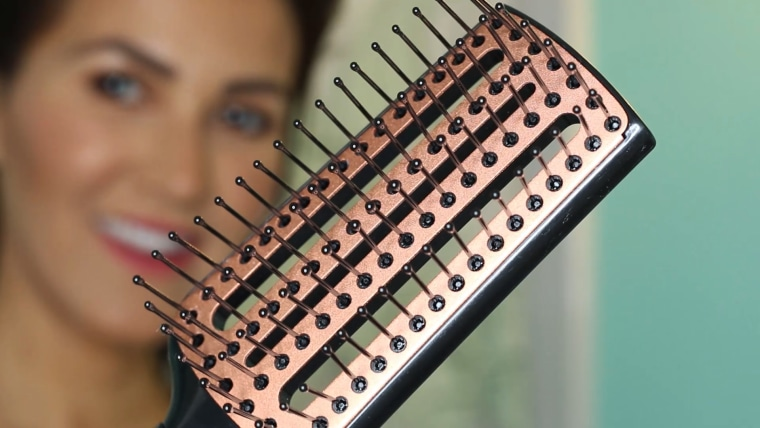 Vent brushes dry soaking wet hair quickly, without damaging delicate strands.