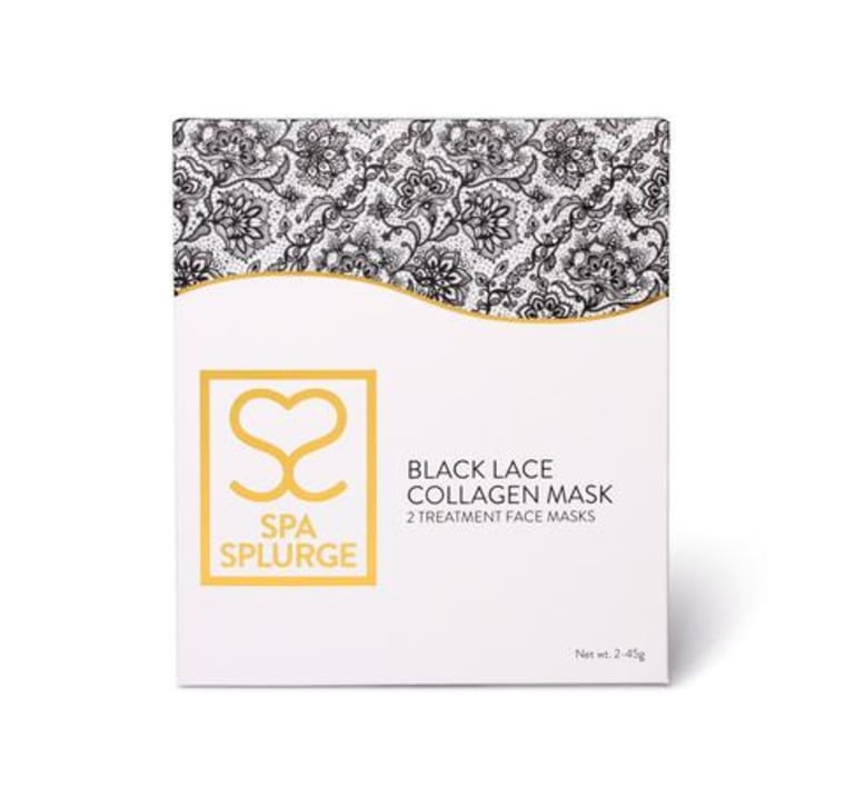 Black Lace Collagen Full Face Mask