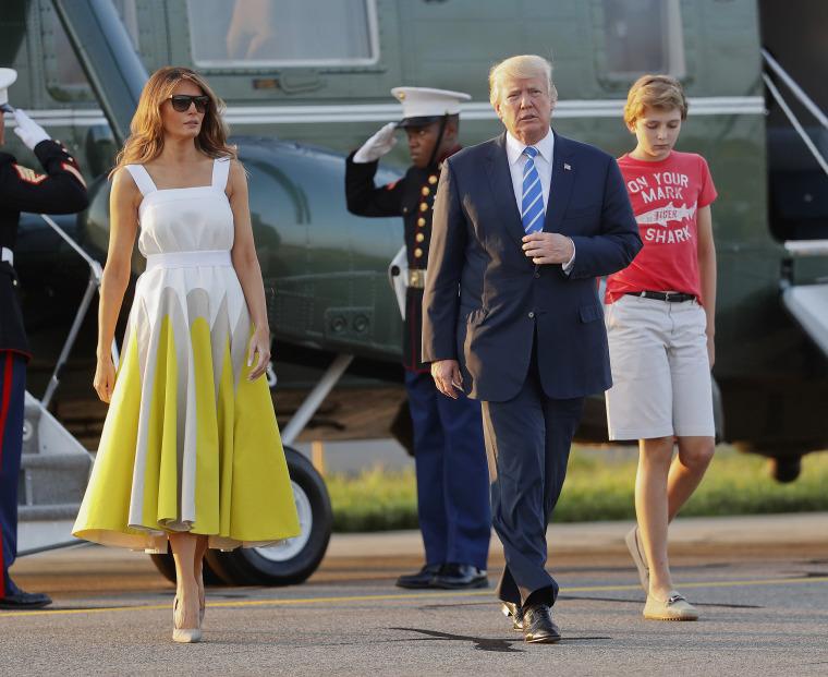 Image: Donald Trump, Melania Trump, Baron Trump