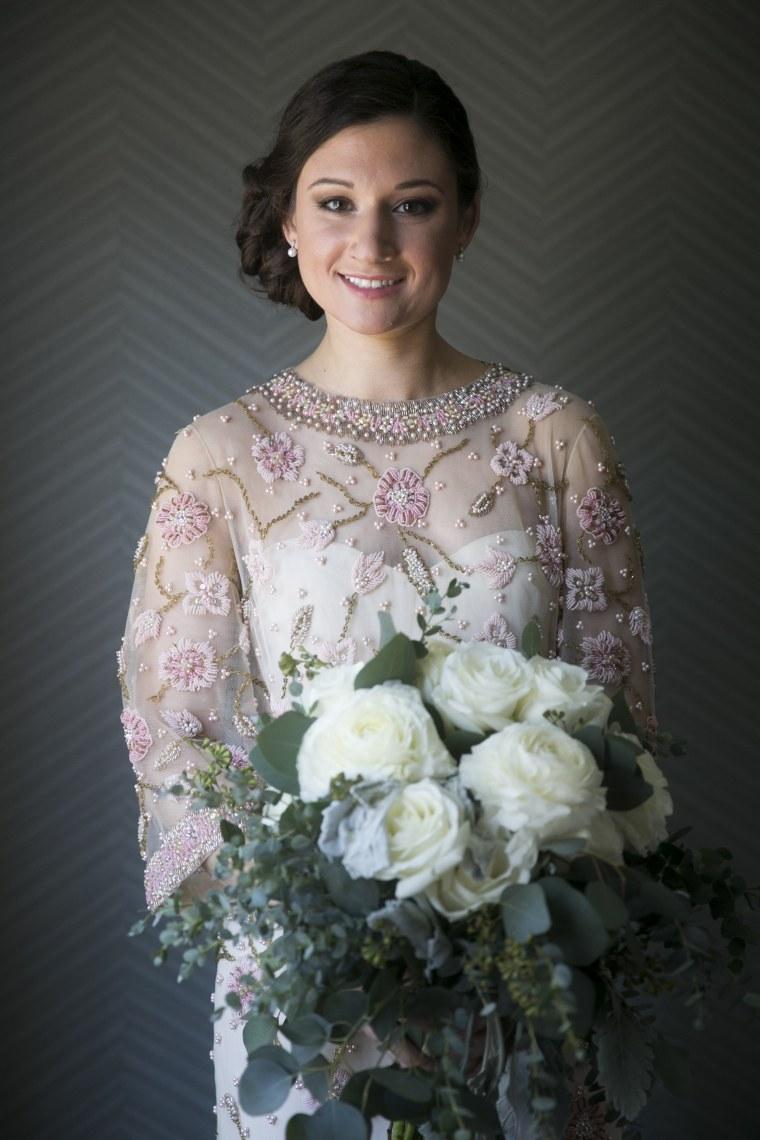 Madison Kantzer wore her grandmother's dress during her April wedding.