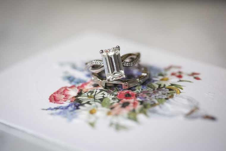 Kantzer's engagement ring once belonged to her adoptive grandmother, Geraldine Simon.