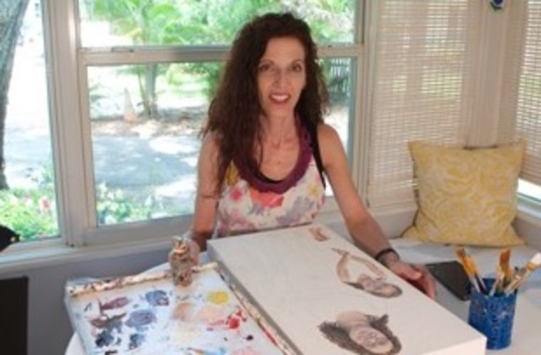 Laurie Anspach in her studio.