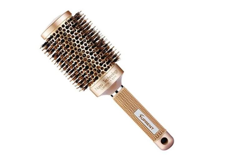 Boar round bristle brush