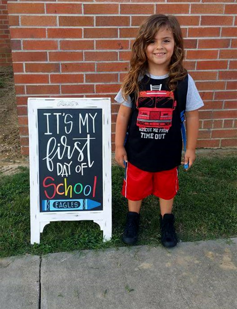 Four year old Jabez Oates is banned from a public school in Texas because his hair is too long for the dress code for boys.