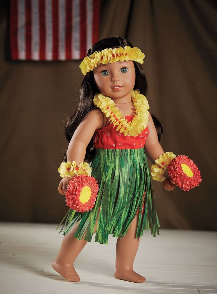 One of the accessories available for Nanea is a traditional hula outfit.