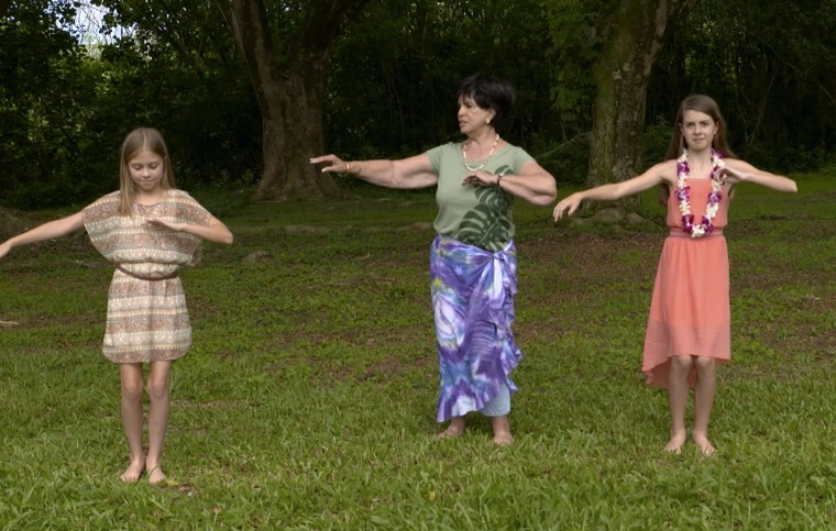 Nicholson recently traveled to Hawaii with two of her granddaughters, where she taught them to hula dance in a video for American Girl.