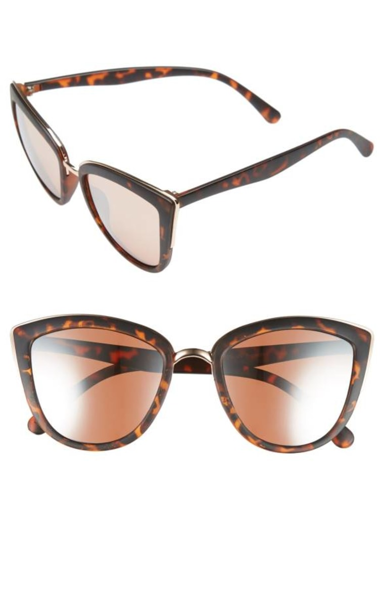 Metal Rim Cat Eye Sunglasses