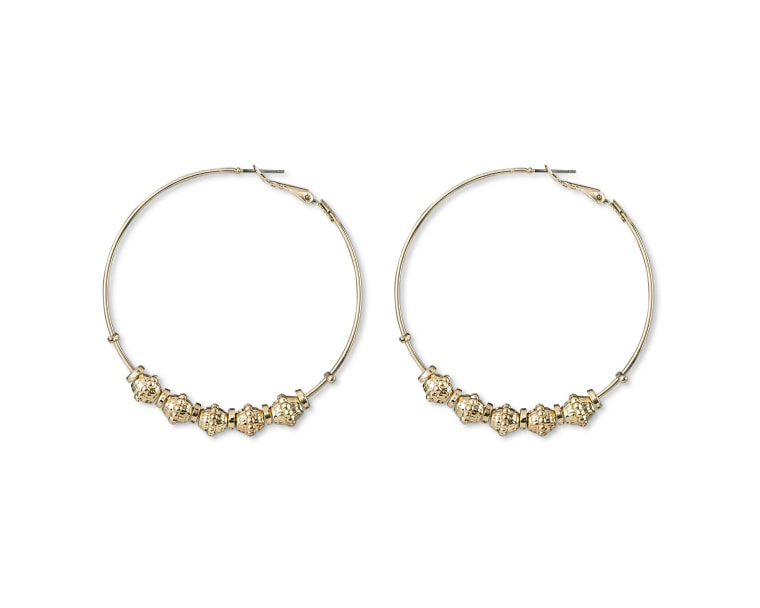 Large Beaded Hoops