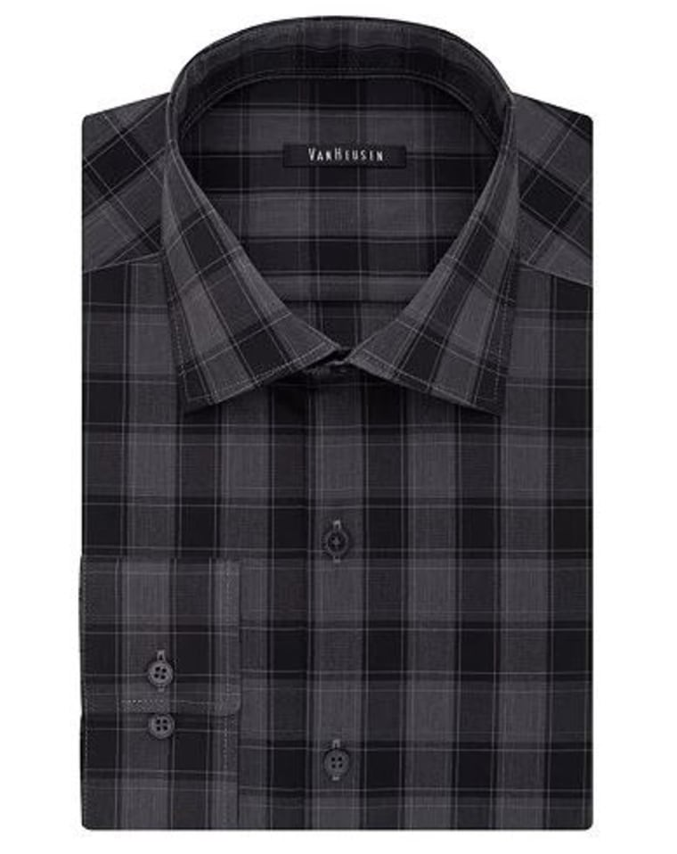 Spread-Collar Dress Shirt