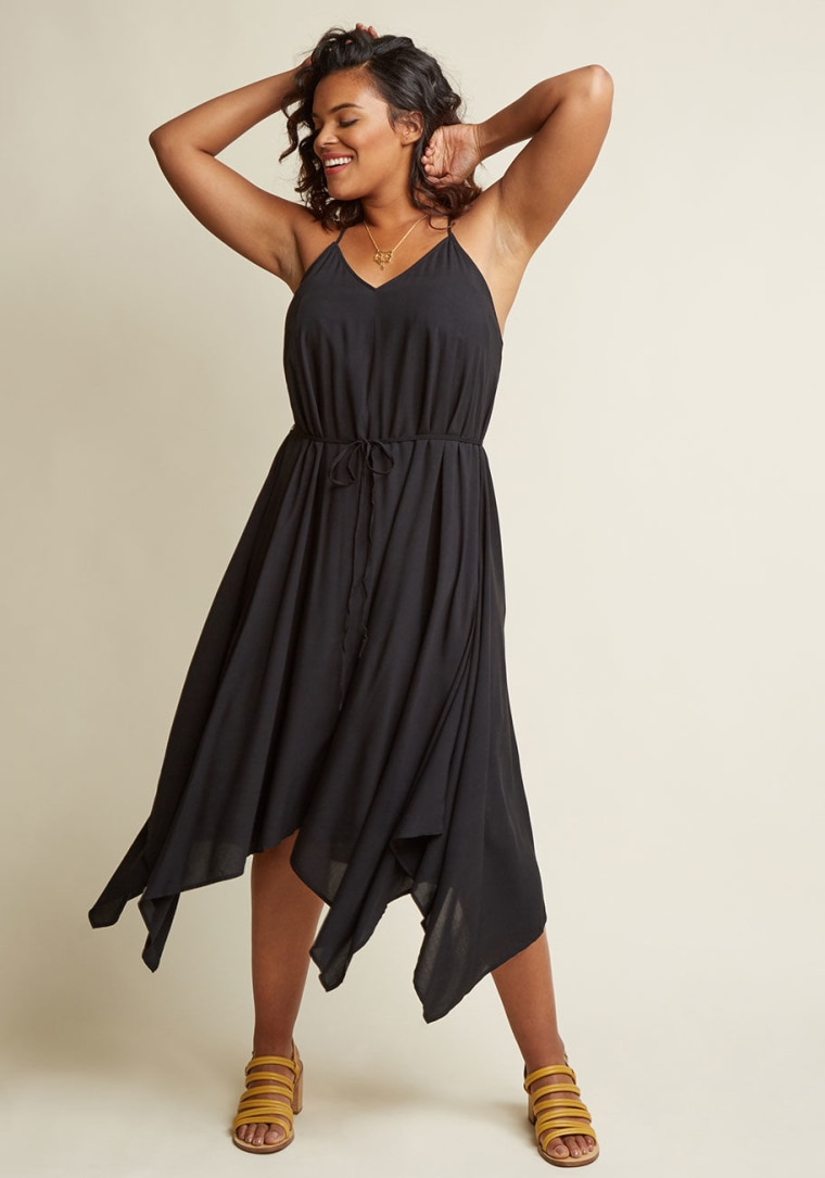 ModCloth Two Ways, All Day Midi Dress in Black