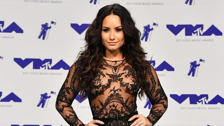 Demi Lovato smiles at the MTV Video Music Awards