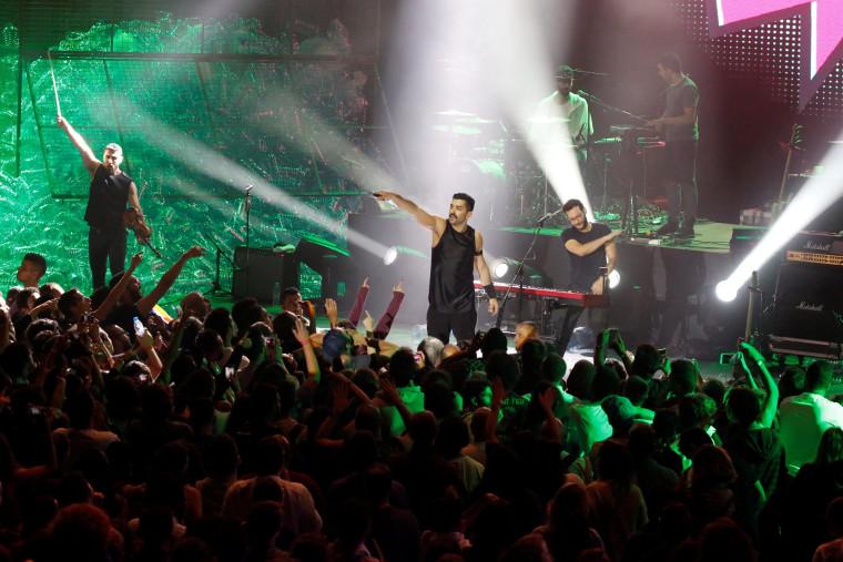 Image: Lebanese alternative rock band Mashrou' Leila performs during the Ehdeniyat International Festival in Ehden town