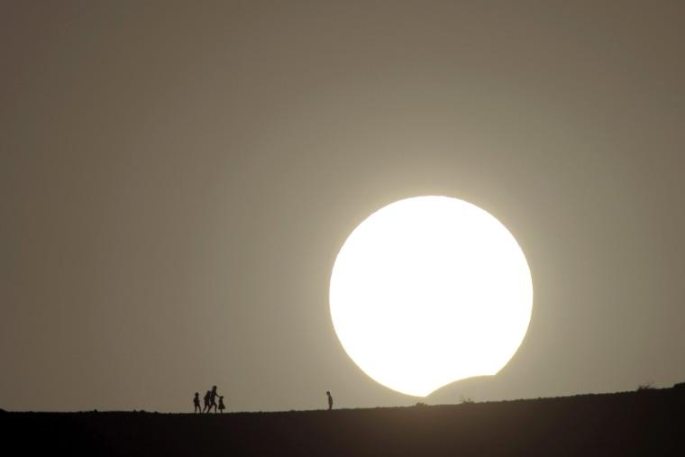 Image: Solar Eclipse in Fuerteventura
