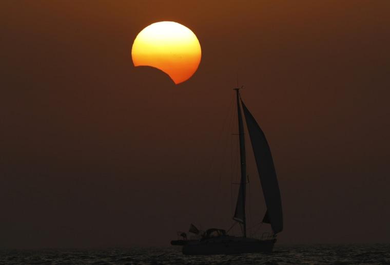 Image: Solar Eclipse in Galicia
