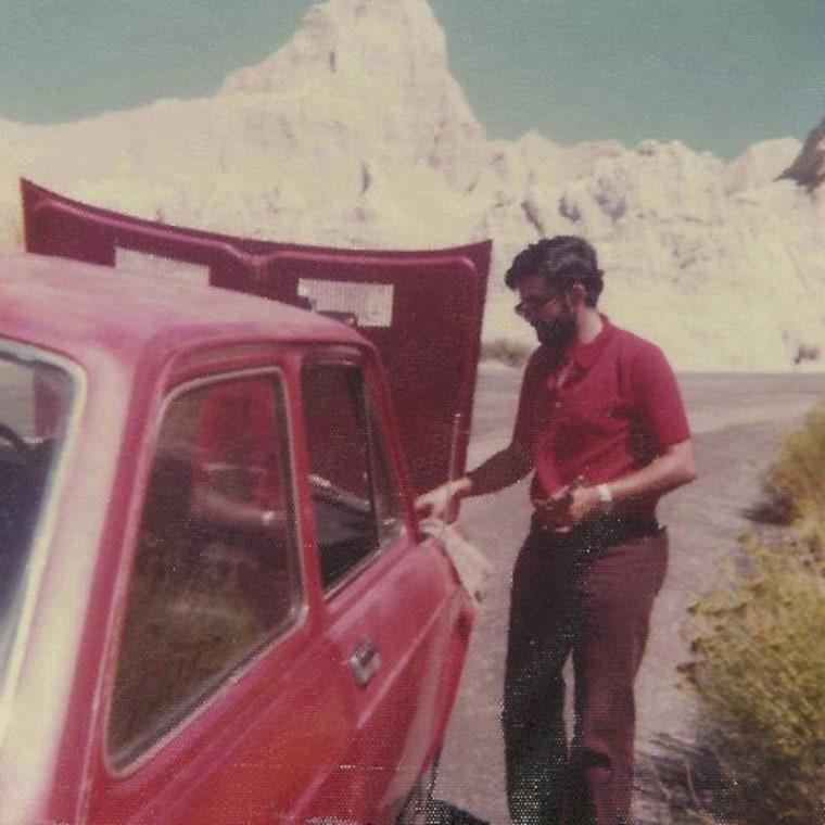 Chhanda Bewtra's husband visited Badlands, South Dakota in 1975.