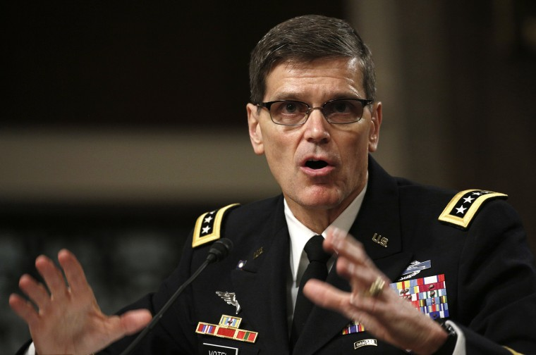 Image: Joseph Votel testifies during a Senate Armed Services Committee hearing on Votel's nomination to be commander of the U.S. Central Command
