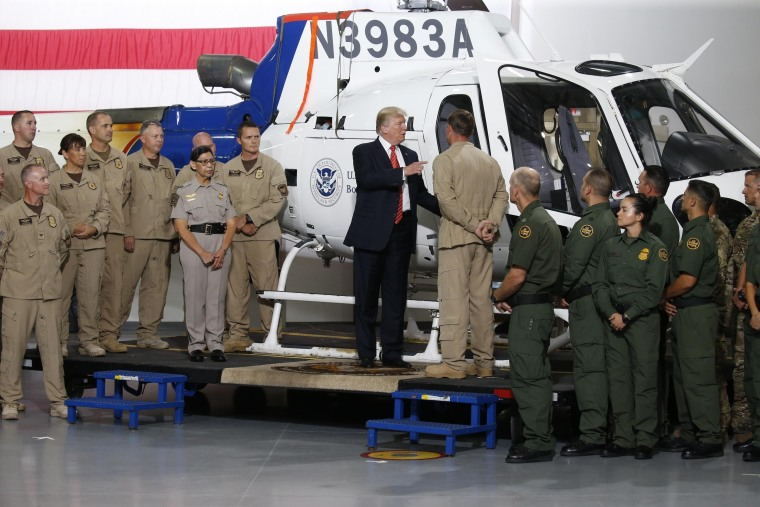 Image: U.S. President Trump participates in a tour of U.S. Customs and Border Protection facility in Yuma, Arizona