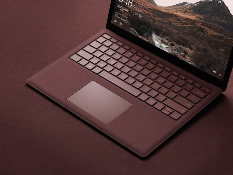 Microsoft's Surface Laptop comes with a built-in HD webcam with Windows Hello facial recognition to automatically log you in and keep curious roommates out.