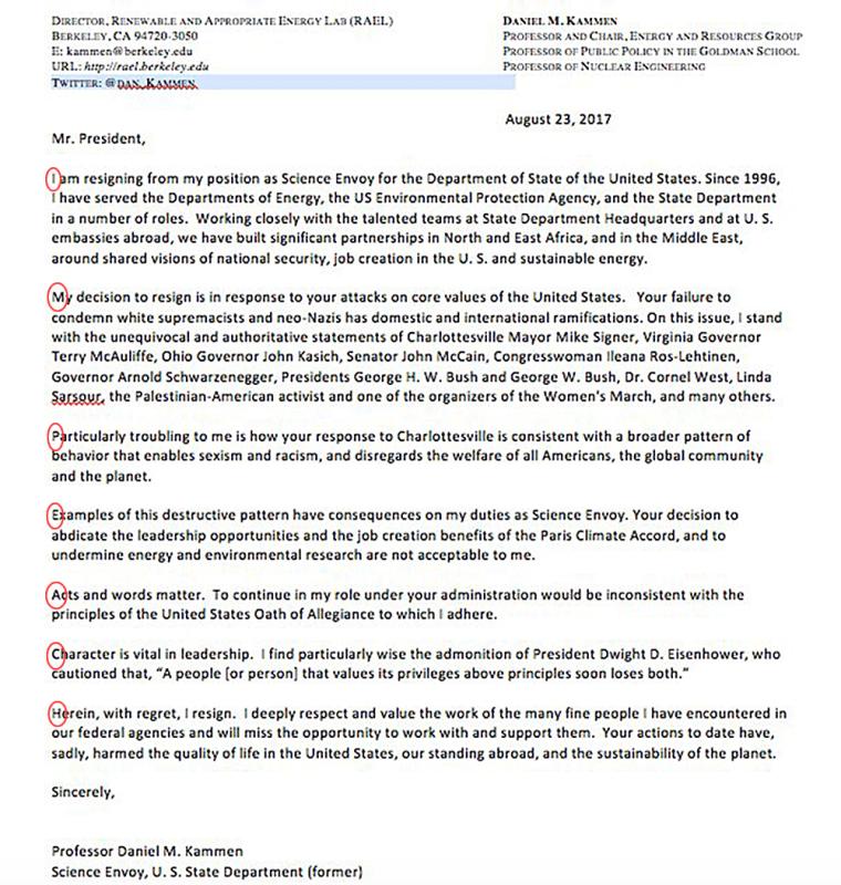 Image: Resignation letter