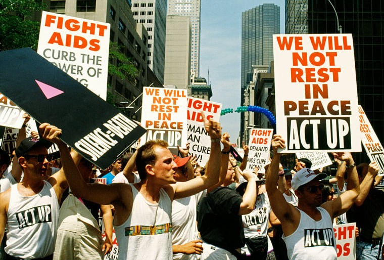 USA - AIDS Activists - ACT-UP Protest March