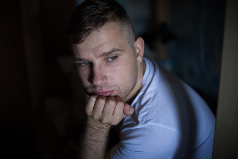Image: Nik Litvinov, 22, has been at The Shelter in Kiev on and off since January of this year