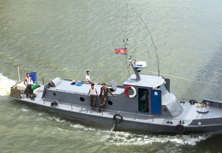 Image: A North Korean patrol boat on the Yalu River