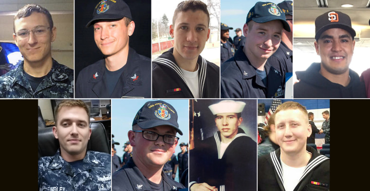Nine sailors from the USS John S. McCain