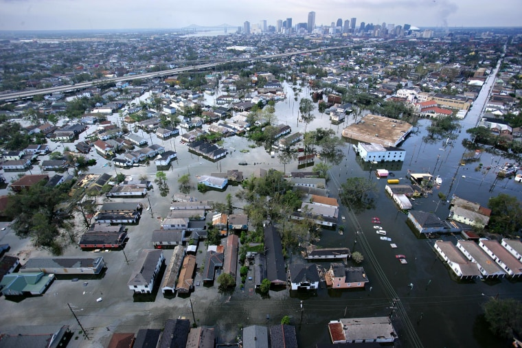 Image: Floodwaters from Hurricane Katrina cover a portion of New Orleans