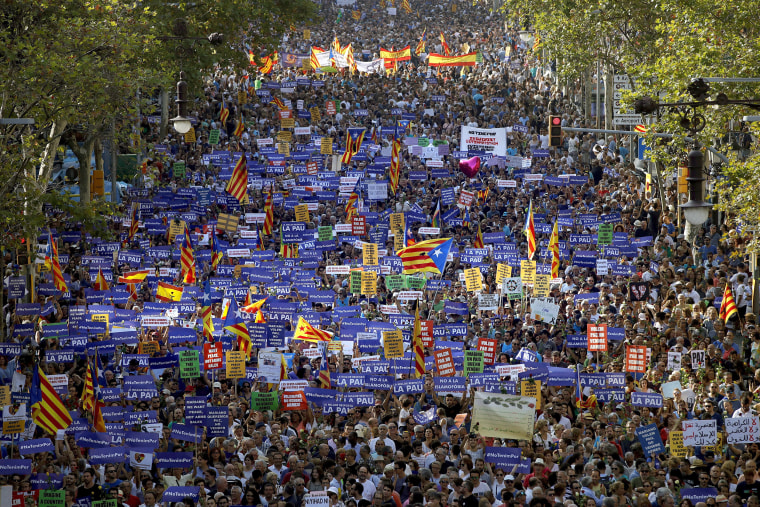 Image: Protests Against Terrorism in Barcelona