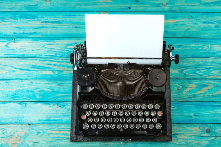 Rustic vintage typewriter