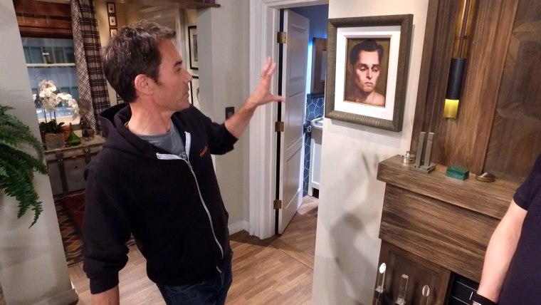 Is that a painting of 'a brooding Will?' Eric McCormack has no idea who it actually is.