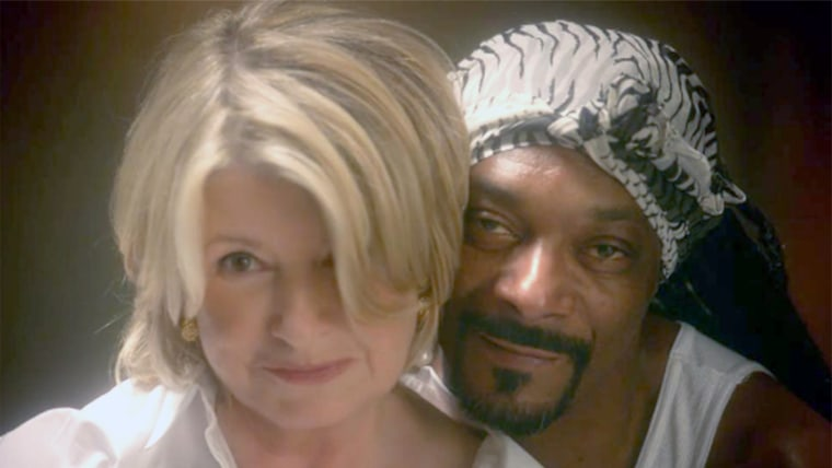 Snoop and Martha Stewart from their Ghost re-enactment.