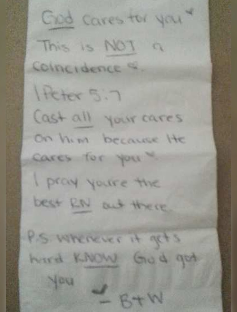 Waitress tip