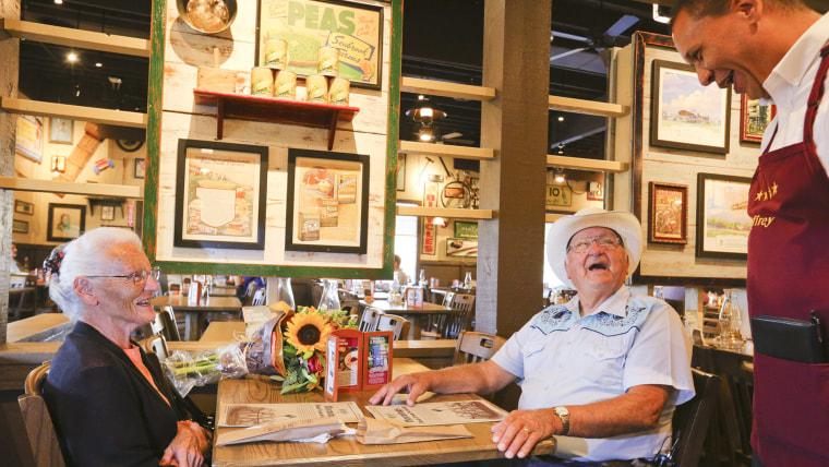 Couple visits 645th Cracker Barrel