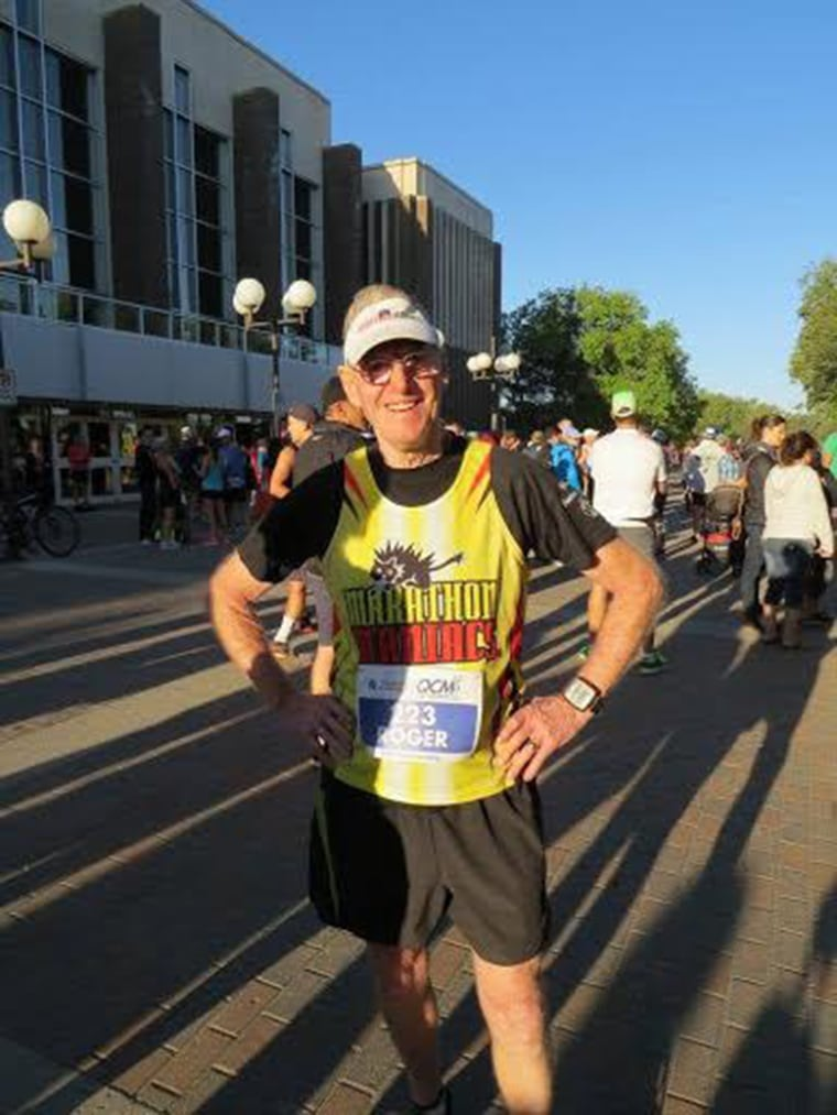 Roger MacMillan decided to run 100 marathons in the decade before he turned 80. A month and a half before his birthday, he completed Edmonton's marathon and reached his goal.