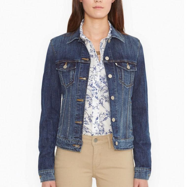 Jean jacket, shopping, style, celebrity look, levi's, kohl's