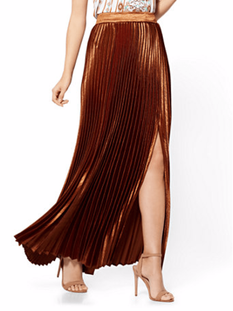 new york and company, pleated skirt, fall fashion, fashion, shopping, style, celeb style,