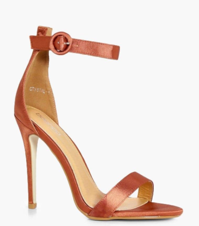 satin sandal, fall fashion, celeb style, shoes, shopping, style, boohoo
