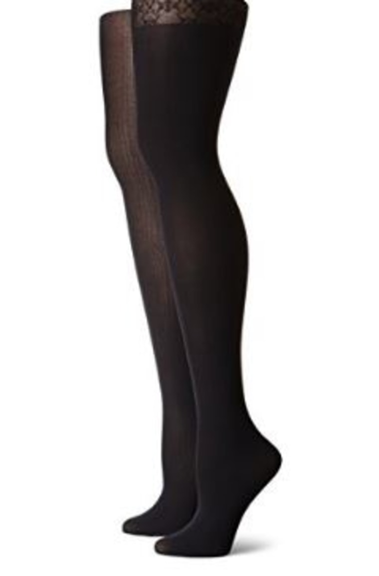 Skinny Opaque Ribbed Tights