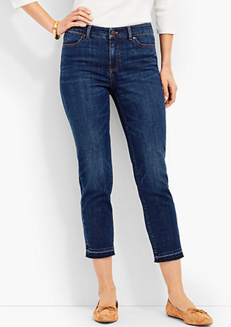 talbots, celeb style, jeans, crop jeans, style, shopping