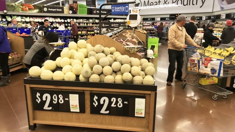 Walmart sells several melon varieties year-round.
