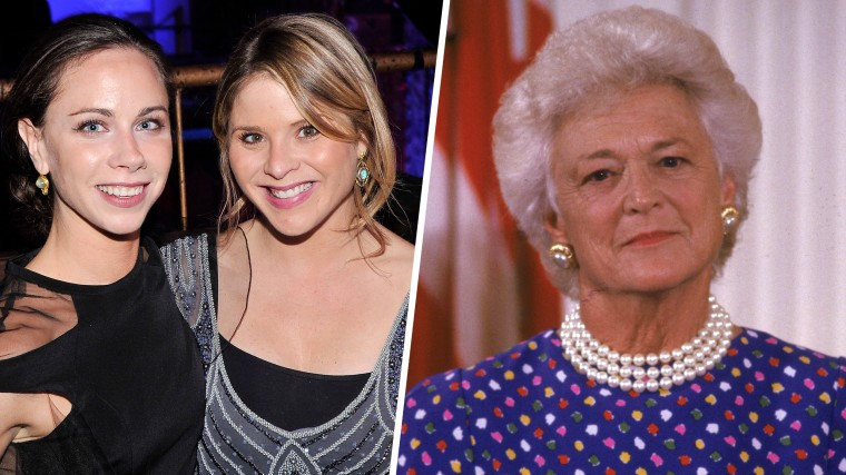 Barbara Pierce Bush, Jenna Bush Hager and former First Lady Barbara Bush