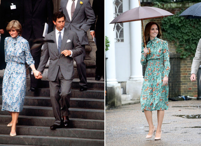 Duchess Kate channels Princess Diana in floral Prada dress.