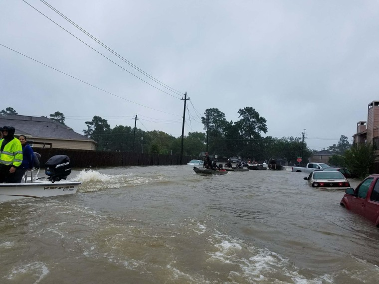 The flooded streets where Clark discovered baby Paige.
