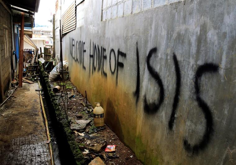 Image: Pro Isis Graffti in Marawi City