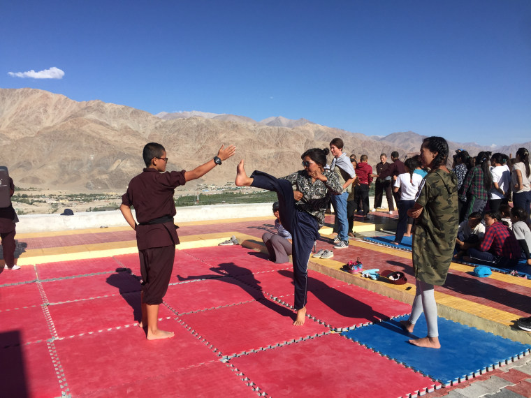 Nuns in India's Ladakh region train girls in kung fu.