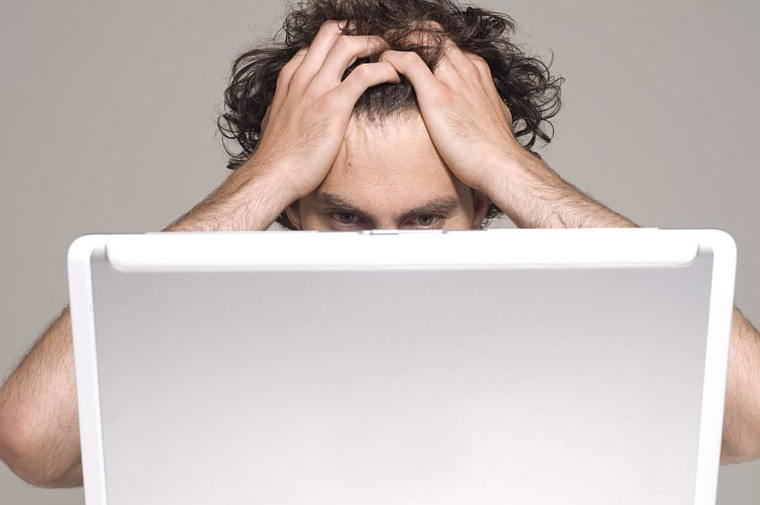 Image: Angry computer user